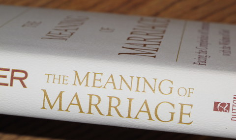 The Meaning of Marriage book spine