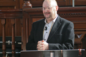 Pete Greasley preaches at Sovereign Grace Church, Merthyr Tydfil, South Wales.