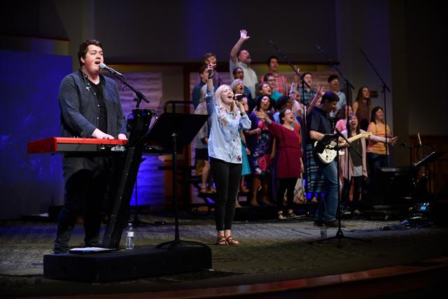 Sam and Becki Cox, band and choir